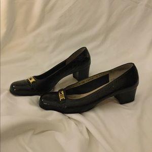 Authentic Salvatore Ferragamo Black Block Heels
